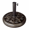 Rose Designed Umbrella Stand in Bronze - 53165