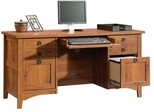 Rose Valley Computer Credenza Abbey Oak - Sauder Furniture - 404978