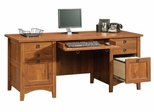 Rose Valley Executive Desk Abbey Oak - Sauder Furniture - 407369