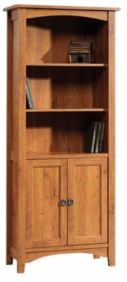 Rose Valley Library with Doors Abbey Oak - Sauder Furniture - 407370