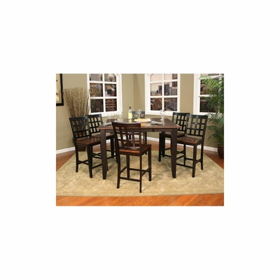 Rosetta 7pc Butterfly Counter Height Set - American Hertiage - AH-713497