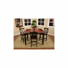 Rosetta Table Set with 4 Camden Chairs - American Hertiage - AH-713424