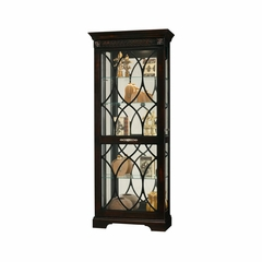 Roslyn Display Cabinet in Worn Black - Howard Miller