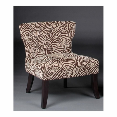 Ross Accent Chair Zebra with Dark Merlot Legs - Largo - LARGO-ST-F2518-436