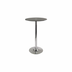 Rossi Pub Table Round Black Glass Top - Winsome Trading - 93444