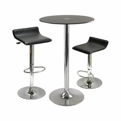 Rossii 3-Pc Pub Table Set - Winsome Trading - 93354