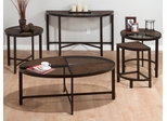 Roswell Stone Tempered Glass 4PC Accent Table Set - 506-1