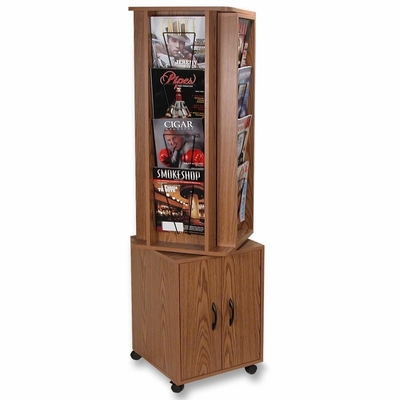 Rotary Magazine Rack - Medium Oak - BDY644111
