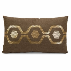 Roth Sequin Honeycomb Pattern Pillow - IMAX - 42099