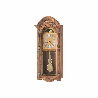Rothwell Wall Clock in Golden Oak - Howard Miller