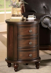 Round Accent Cabinet with 3 Drawers - 900363