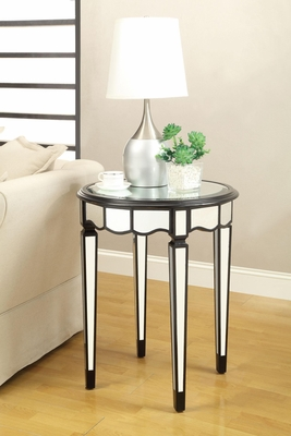 Round Accent Table with Tempered Glass Top - 901038