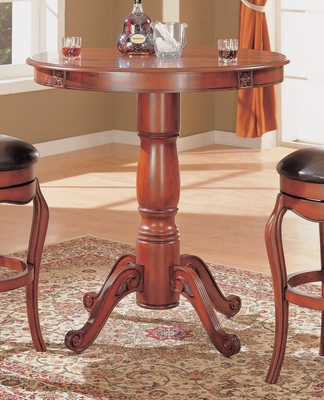 Round Bar Table in Cherry - Coaster
