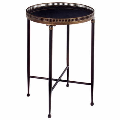 Round Black Accent Table - IMAX - 12002