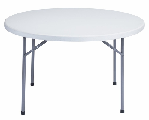 Round Blow Molded Folding Table 48