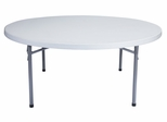 "Round Blow Molded Folding Table 71"" - National Public Seating - BT-71R"