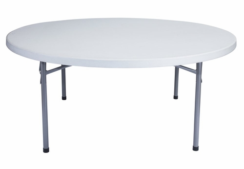 Round Blow Molded Folding Table 71