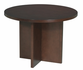 Round Conference Table in Mahogany - Office Star - CT42R3
