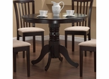 Round Dining Table in Cappuccino - Coaster