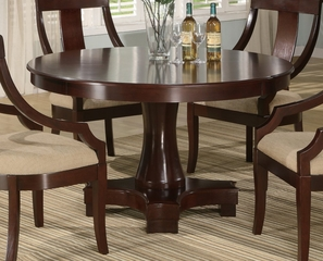 Round Dining Table in Deep Cherry - Coaster