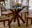 Round Dining Table with Glass Top - 5316