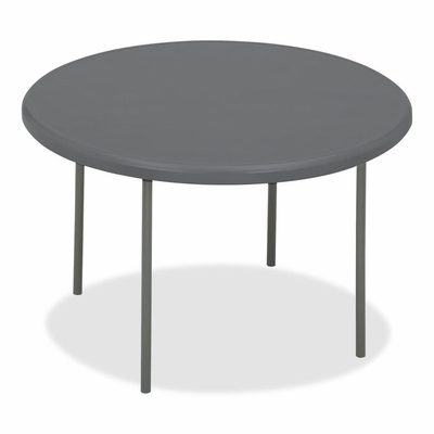 Round Folding Table - Charcoal - ICE65247