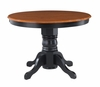 Round Pedestal Dining Table in Black / Cottage Oak - Home Styles - 5168-30