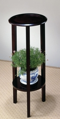 Round Plant Stand Table with Bottom Shelf - 900936