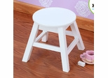 Round Stool in White - KidKraft Furniture - 15211