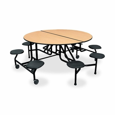 Round Table w/ Stools - Natural Maple/Lava/Black - HONRS2960DD11P