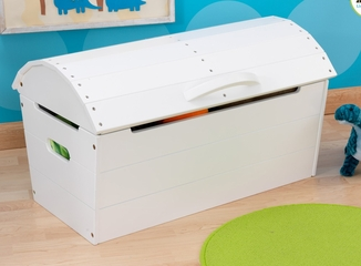 Round Top Storage Chest in White - KidKraft Furniture - 14540