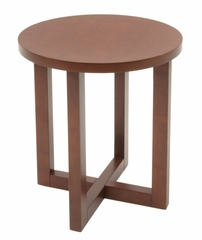 Round Wood End Table - HWTE2123
