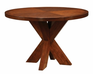 Round X-Base Dining Table - Hudson Dining - Modus Furniture - HD6161