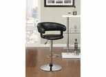 Rounded Back Bar Stool in Black - 122094