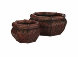 Rounded Ocatagon Decorative Planters (Set of 2) - Nearly Natural - 0522