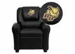 Rowan University Owls Black Vinyl Kids Recliner - DG-ULT-KID-BK-41066-EMB-GG