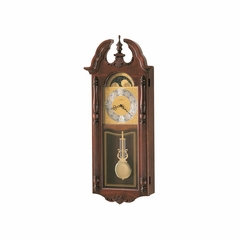 Rowland Dual Chime Wall Clock in Windsor Cherry - Howard Miller