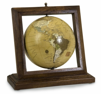 Royale Wood Framed Globe - IMAX - 5492