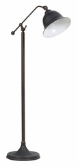Rubbed Black Metal Finish Floor Lamp - 901231