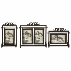 Ruben Cast Iron 4x6 Frames (Set of 3) - IMAX - 27595-3