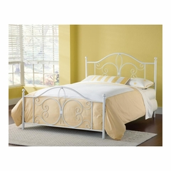 Ruby Textured White Wrought Iron Bed - Hillsdale