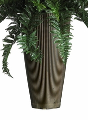 Ruffle Fern with Decorative Vase Silk Plant in Green - Nearly Natural - 6540