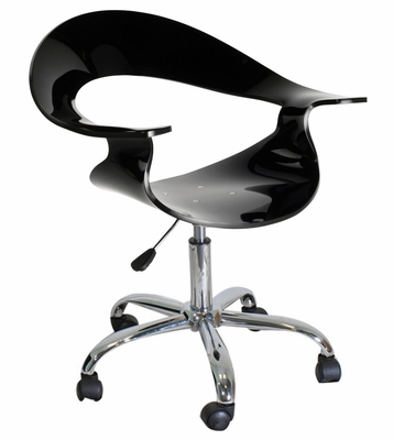 Rumor Chair Black Acrylic - LumiSource - CHR-TW-RUMOR-BK