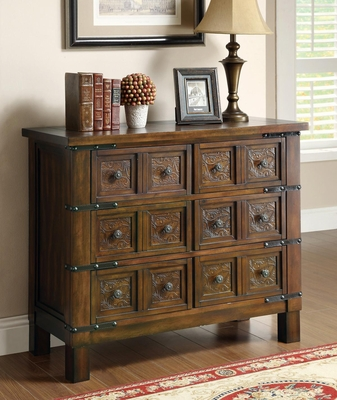 Rustic Brown Accent Cabinet with 6 Drawers - 950104