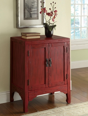 Rustic Red Accent Cabinet with 2 Doors - 950199