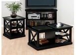 Rutland Black 3PC Coffee, Sofa and End Table Set - 227-1