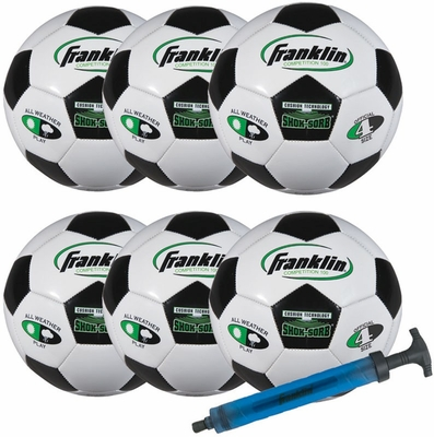 S4 Comp 100 Team 6 Pack with Pump - Franklin Sports