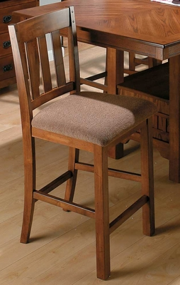 Saddle Brown Oak School House Counter Height Stool - Set of 2 - 477-BS850KD
