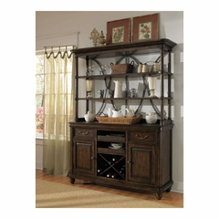 Saddle Ridge Sideboard with Hutch - Pulaski