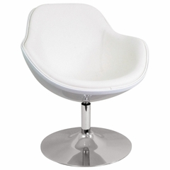 Saddlebrook Lounger White - LumiSource - CHR-SDLBRK-W